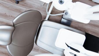 A empty dental chair